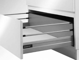 Smart Box Drawer with Double Gallery Railing