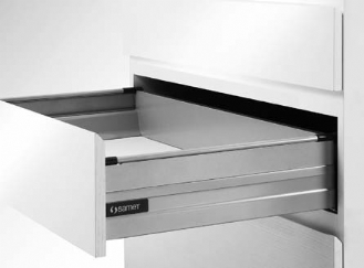Smart Box Drawer with Side Panel H:48 (Plexi or Steel)
