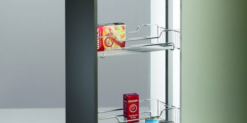Pull-Out Pantry with Wire Baskets